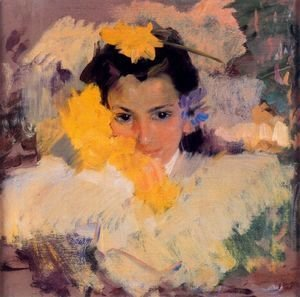 Joaquin Sorolla y Bastida - Girls with flowers