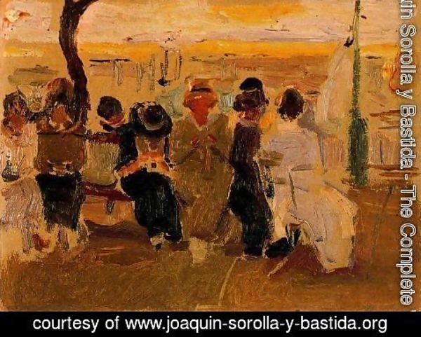 Joaquin Sorolla y Bastida - Ladies in a bank in the Paseo de la Concha. San Sebastian