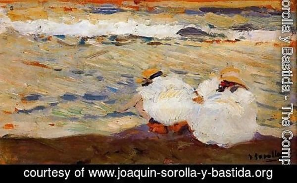 Joaquin Sorolla y Bastida - Maria and Elena on the beach