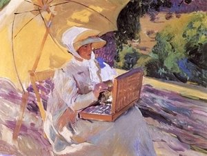 Joaquin Sorolla y Bastida - Mary painting at the Pardo