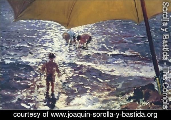 Joaquin Sorolla y Bastida - Noon on the beach of Valencia