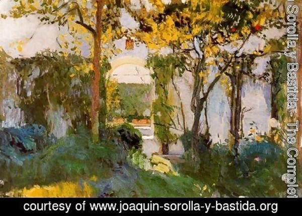 Joaquin Sorolla y Bastida - Old garden of the Alcazar in Seville