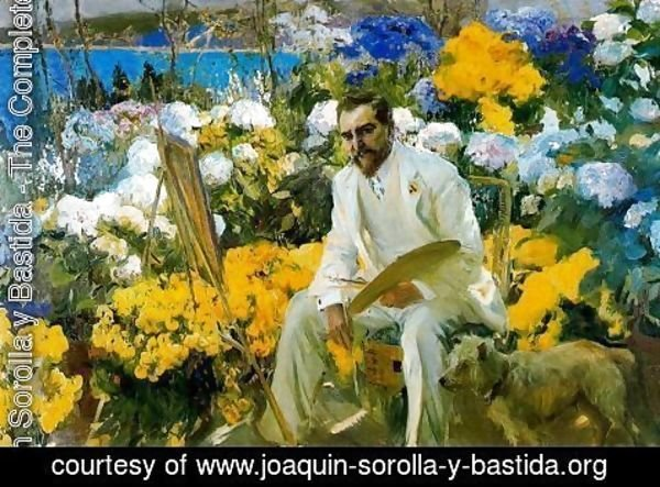 Joaquin Sorolla y Bastida - Portrait of Mr. Louis Comfort Tyffany