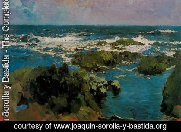 Joaquin Sorolla y Bastida - Rocks and Sea of St. Stephen, Asturias