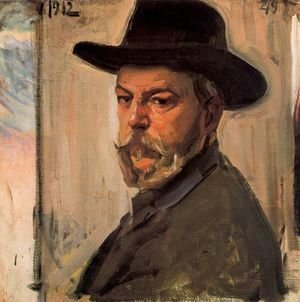 Joaquin Sorolla y Bastida - Self-portrait with a hat