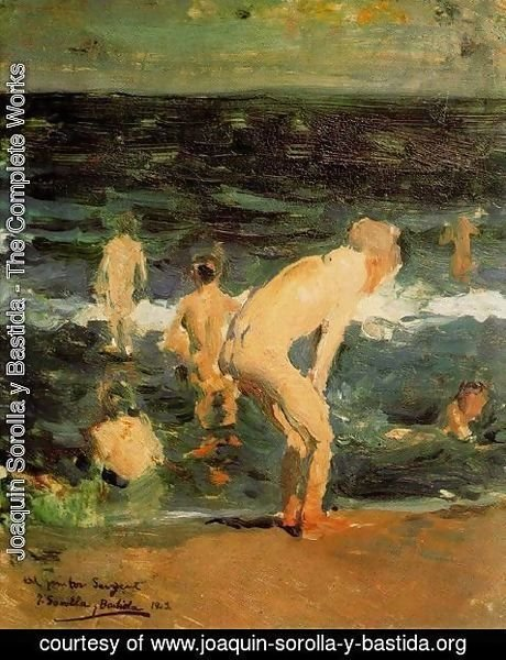 Joaquin Sorolla y Bastida - Sketch for 'Sad legacy'