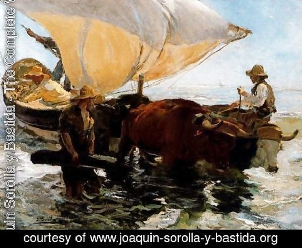 Joaquin Sorolla y Bastida - Study for 'The Comeback of the fisheries'