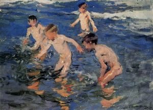 Joaquin Sorolla y Bastida - The bath