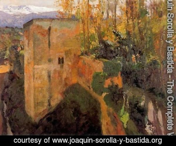 Joaquin Sorolla y Bastida - Tower of the Infantas, the Alhambra