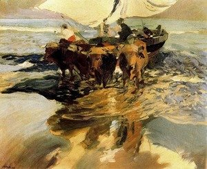 Joaquin Sorolla y Bastida - Waiting for fishing (beach Valencia)