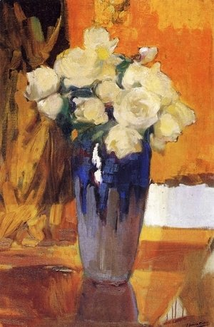 Joaquin Sorolla y Bastida - White Rose in the garden of the house