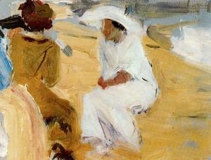 Joaquin Sorolla y Bastida - Women on the beach at San Sebastian