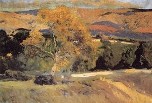 Joaquin Sorolla y Bastida - Yellow tree, The Farm