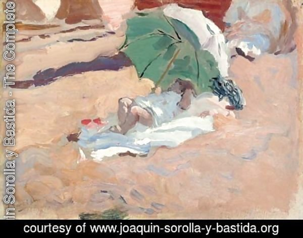 Joaquin Sorolla y Bastida - Niaa en la playa (Girl on the beach)