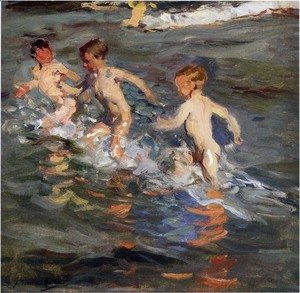 Joaquin Sorolla y Bastida - Ninos En La Playa (Children On The Beach)