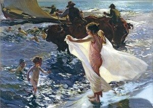 Joaquin Sorolla y Bastida - La Hora Del Bano (The Bathing Hour)