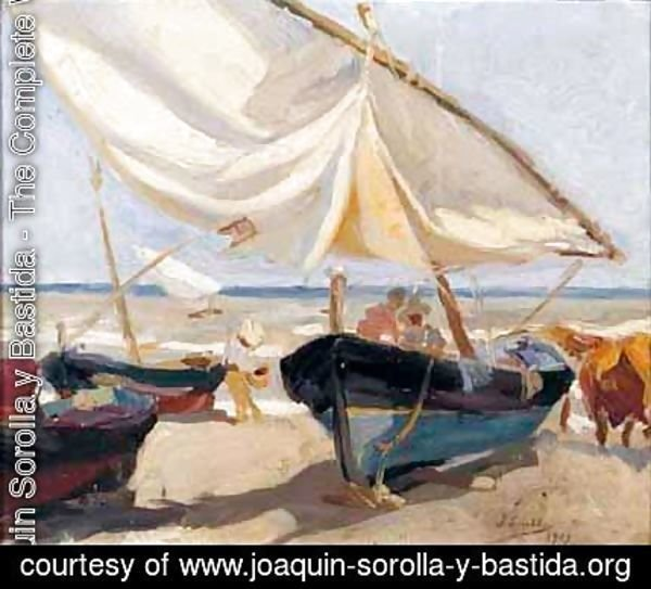 Barcas En La Playa (Boats On The Beach)