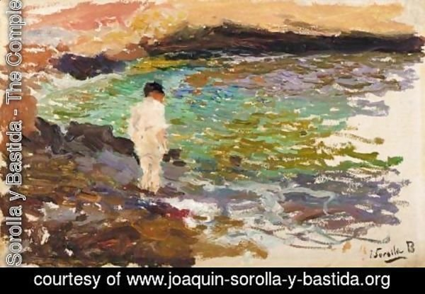 Joaquin Sorolla y Bastida - Nino En Las Rocas (Boy On The Rocks)