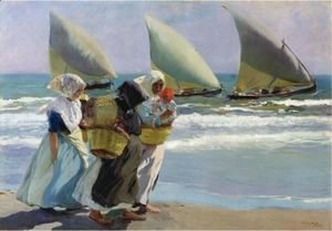 Joaquin Sorolla y Bastida - The tree sails