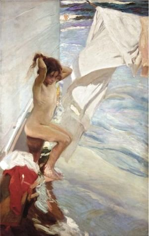 Joaquin Sorolla y Bastida - Before Bathing