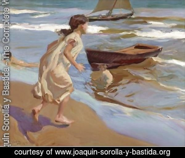 Joaquin Sorolla y Bastida - Nina Entrando En El Bano (The Bathing Hour)