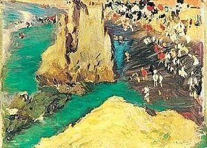Joaquin Sorolla y Bastida - Playa De Biarritz (The Beach At Biarritz)