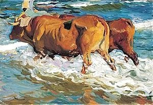 Joaquin Sorolla y Bastida - Bueyes En El Mar (Oxen In The Sea)