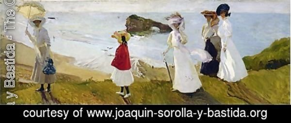Joaquin Sorolla y Bastida - Lighthouse Walk at Barritz