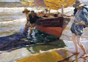 Joaquin Sorolla y Bastida - Return from Fishing