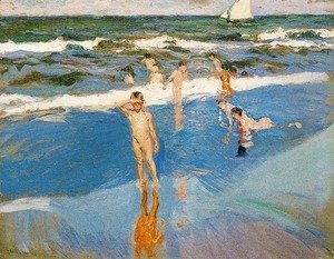 Joaquin Sorolla y Bastida - Boys in the sea