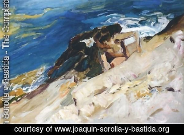 Joaquin Sorolla y Bastida - Looking for Crabs among the Rocks, Javea