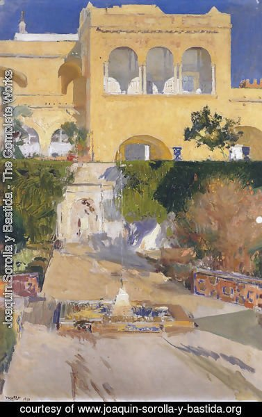 Joaquin Sorolla y Bastida - Afternoon sun at the Alcazar of Seville