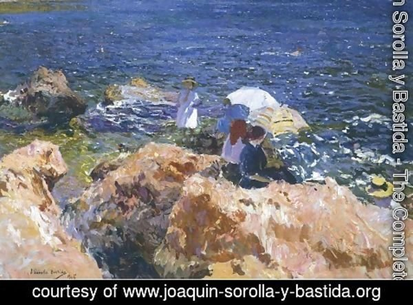 Joaquin Sorolla y Bastida - On the Rocks at Javea
