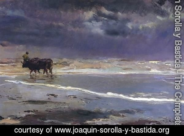 Joaquin Sorolla y Bastida - Gray day on Valencia beach