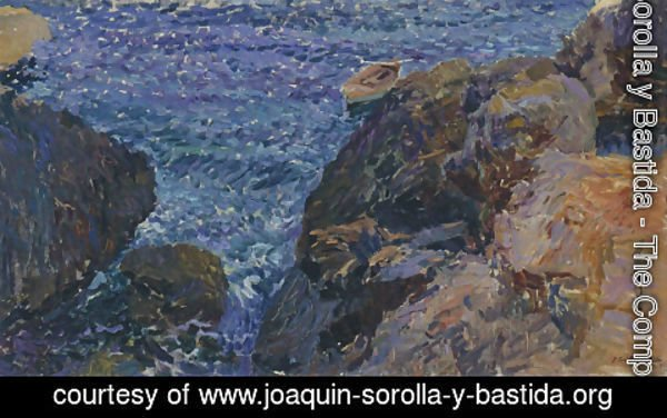 Joaquin Sorolla y Bastida - Rocks at Javea, The White Boat