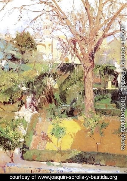 Joaquin Sorolla y Bastida - Gardens of the Alcazof Seville in Wintertime
