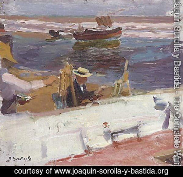 Joaquin Sorolla y Bastida - Painters on the beach