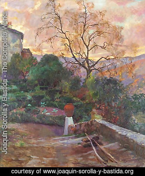 Joaquin Sorolla y Bastida - Garden of Spanish Farmhouse