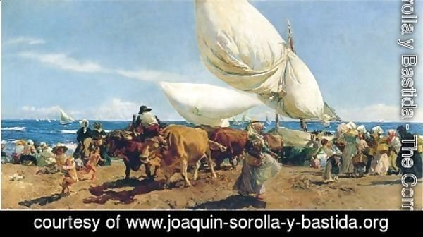 Joaquin Sorolla y Bastida - Arrival of the Fishing Boats on the beach, Valencia