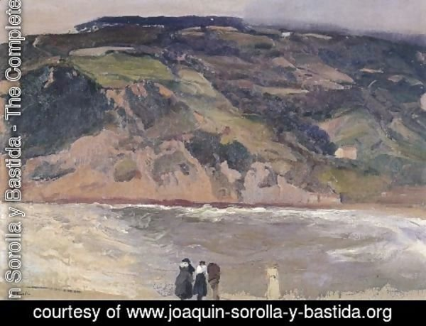 Joaquin Sorolla y Bastida - The Breakwater at San Sebastian