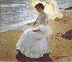 Joaquin Sorolla y Bastida - Clothilde at the Beach