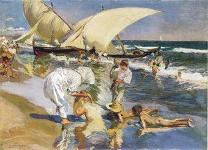 Joaquin Sorolla y Bastida - Valencia beach in the morning light