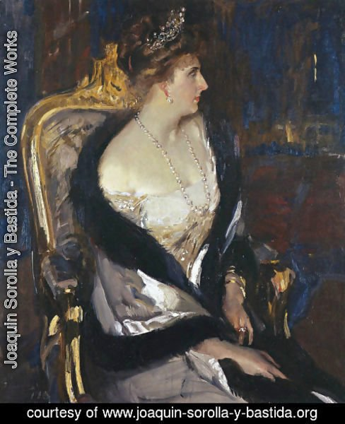 Joaquin Sorolla y Bastida - Queen Victoria Eugenia of Spain