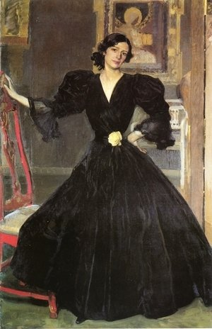 Joaquin Sorolla y Bastida - Clotilde in a Black Dress