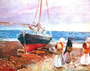 Joaquin Sorolla y Bastida - Fisherwomen on the Beach, Valencia