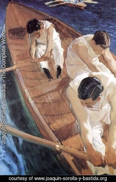 Joaquin Sorolla y Bastida - In the Racing Shell