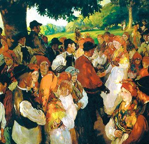 Joaquin Sorolla y Bastida - Galician party