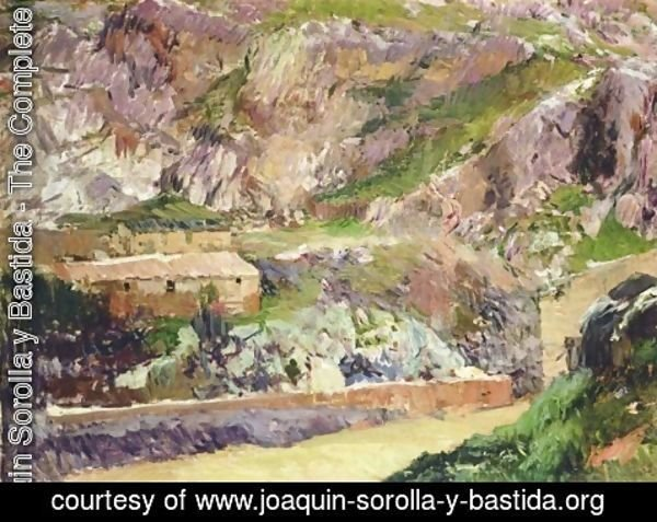 Joaquin Sorolla y Bastida - Windmills on the Tagus, Toledo