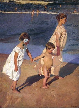 Joaquin Sorolla y Bastida - To the Water, Valencia