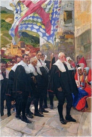 Joaquin Sorolla y Bastida - Navarre, the Town Council of Roncal